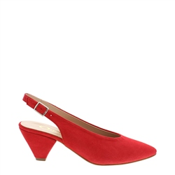 Carl Scarpa Dolce Red Suede Courts