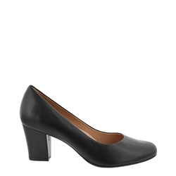 Carl Scarpa Yvonne Black Court Shoes