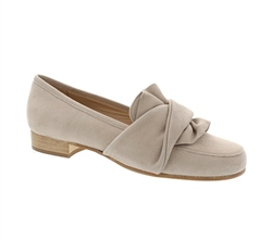 Carl Scarpa Perola Beige Suede Loafers