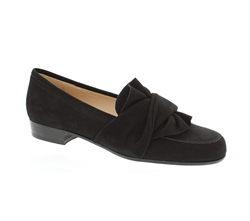 Carl Scarpa Perola Black Suede Loafers