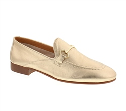 Carl Scarpa Valentina Gold Loafers