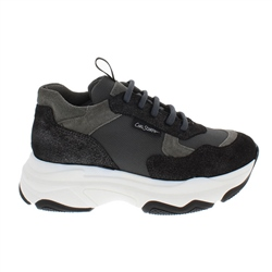 Carl Scarpa Almira Black Chunky Sole Leisure Shoes