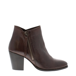 Carl Scarpa Laura Brown Mid Heel Ankle Boots
