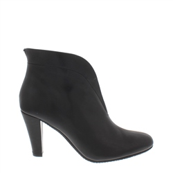 Carl Scarpa Belladona Black Leather High Heel Ankle Boots