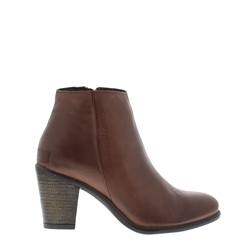 Carl Scarpa Indiana Brown Mid Heel Ankle Boots