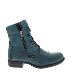 Carl Scarpa Pilar Teal Ankle Boots