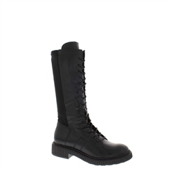 Anthea Black Leather Boot