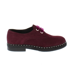 Carl Scarpa Alexandria Burgundy Suede Loafers