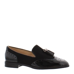 Alma Black Leather Loafers