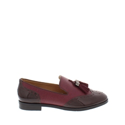 Carl Scarpa Alma Burgundy Leather Loafers