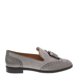 Carl Scarpa Alma Pewter Leather Loafers