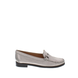 Carl Scarpa Amaya Pewter Leather Loafers