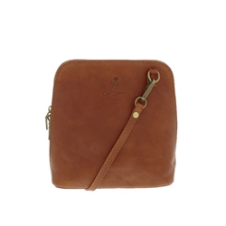 Carl Scarpa Renata Tan Leather Bag