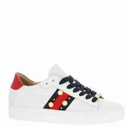 Davina White Embellished Trainers
