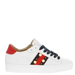 Carl Scarpa Davina White Embellished Trainers