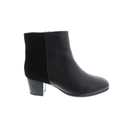 Carl Scarpa Cara Black Leather Ankle Boots