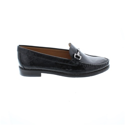 Carl Scarpa Amaya Black Leather Loafers