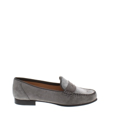 Carl Scarpa Giuliana Grey Suede Loafers