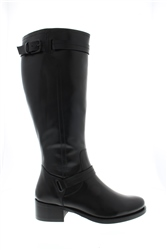 Carl Scarpa Kielsey Black Lether Boots