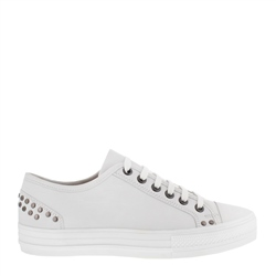 Carl Scarpa Carlotta White Lace Up Trainers
