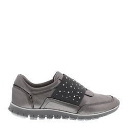 Carl Scarpa Emeline Chrome Slip-On Trainers