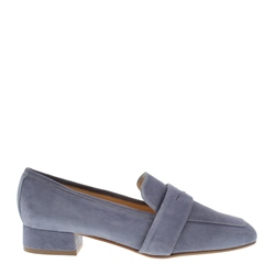 Carl Scarpa Ginevra Blue Suede Loafers
