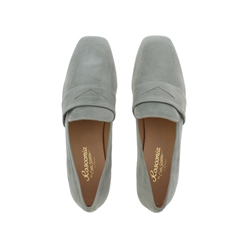 Ginevra Mint Suede Loafers