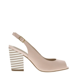 Carl Scarpa Primo Nude Block Heel Court Shoes