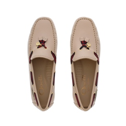 Faris Nude Slip-on Loafers