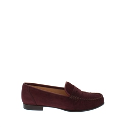 Carl Scarpa Giuliana Burgundy Suede Loafers