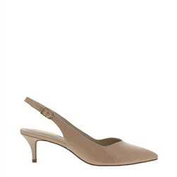 Carl Scarpa Raemira Nude Kitten Heel Court Shoes