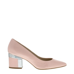 Carl Scarpa Renesme Rose Patent Mid Heel Court Shoes