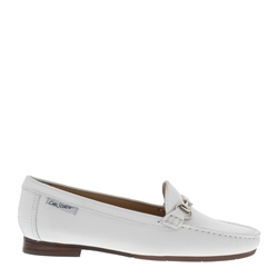 ad7948f446c Carl Scarpa Herlinda White Leather Loafers