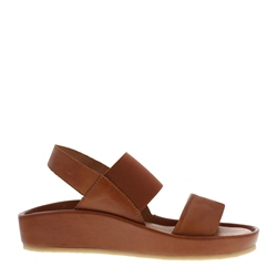 Carl Scarpa Sheila Brandy Leather Sandals