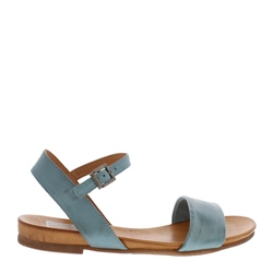 Carl Scarpa Tianna Petrol Leather Sandals