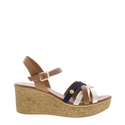 Carl Scarpa Doriana Tan Wedge Sandals
