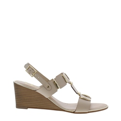 Carl Scarpa Esperanza Beige Wedge Sandals