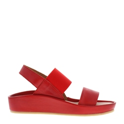Carl Scarpa Sheila Red Leather Sandals