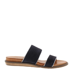Carl Scarpa Willow Navy Slip-On Sandals