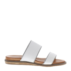 Carl Scarpa Willow White Slip-On Sandals