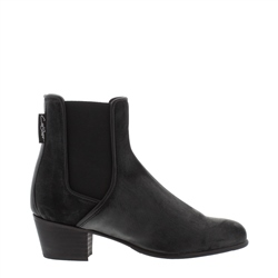 Carl Scarpa Claudia Pewter Low Heel Chelsea Ankle Boots