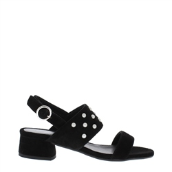 Carl Scarpa Odelia Block Heel Black Sandals