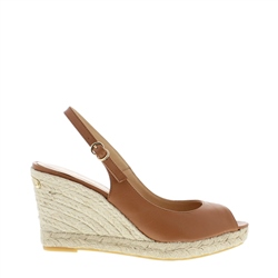 Carl Scarpa Cadenza Tan Wedge Sandals