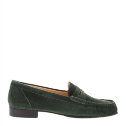 Carl Scarpa Faye Green Suede Loafers