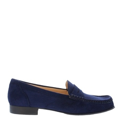 Carl Scarpa Faye Navy Suede Loafers