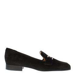 Carl Scarpa Felicity Black Suede Loafers
