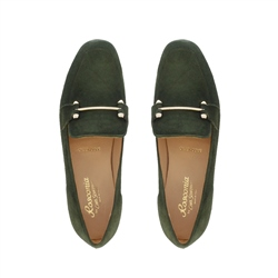 Felicity Green Suede Loafers