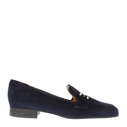 Carl Scarpa Felicity Navy Suede Loafers