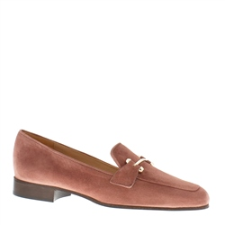 Felicity Pink Suede Loafers