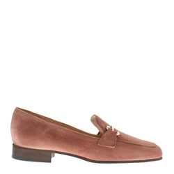 Carl Scarpa Felicity Pink Suede Loafers